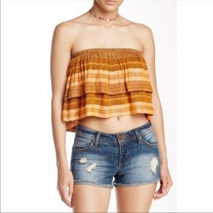 NWT Free People Festival Tiered Indian Tube Top